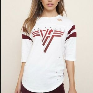 Trunk Van Halen Distressed football te